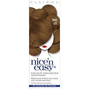 Clairol Nice n Easy Colour Enhancer Non Permanent Light Brown 755