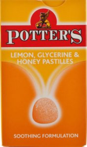 Potters Pastilles Lemon, Glycerine & Honey 45g