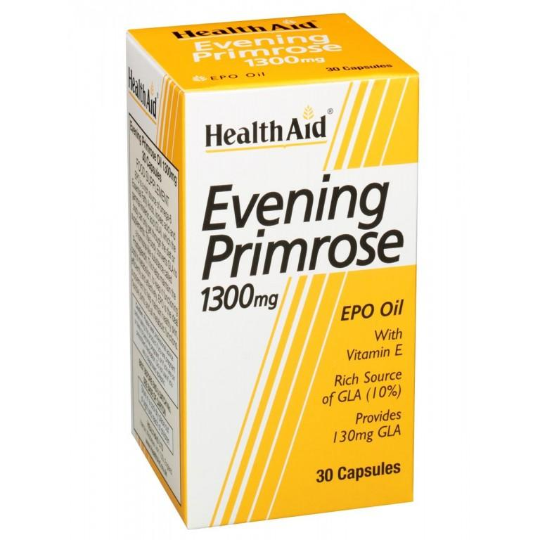HealthAid Evening Primrose Oil 1300mg Capsules Pack of 30