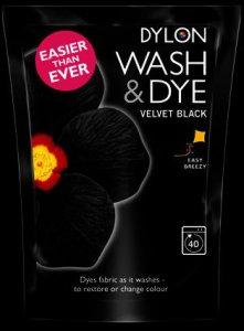Dylon Wash N Dye Velvet Black 350g