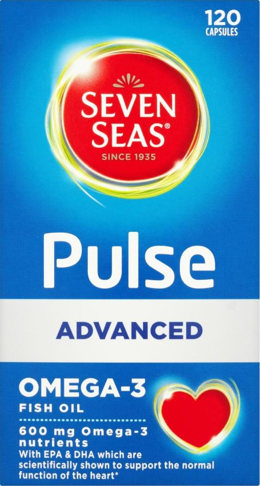 Seven Seas Pulse Advanced Omega 3 Capsules Pack of 120