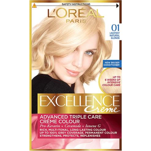 L'Oreal Excellence Creme Lightest Natural Blonde 01