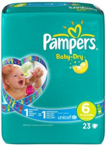 Pampers Baby Dry Size 6 Pack of 23