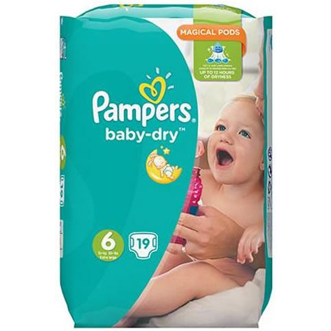 Pampers Baby Dry (unisex) Extra Large Pack of 19