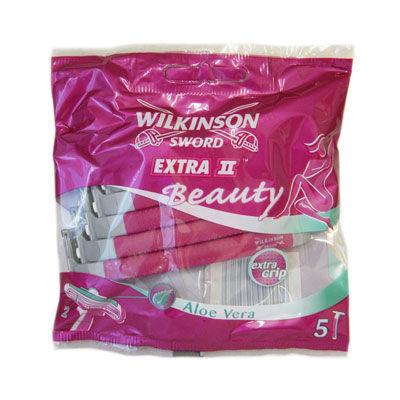 Wilkinson Sword Extra II Beauty Disposable Razors For Women Pack of 5