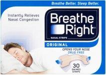 Breathe Right Nasal Strips Small/Medium Original Pack of 30 x 2