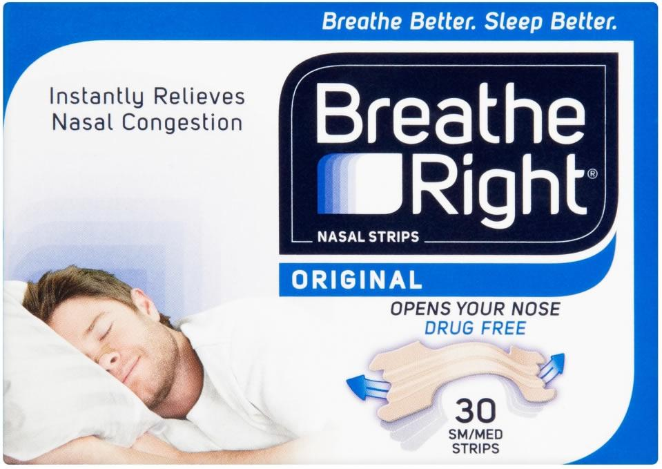 Breathe Right Nasal Strips Small/Medium Original Pack of 30 x 6