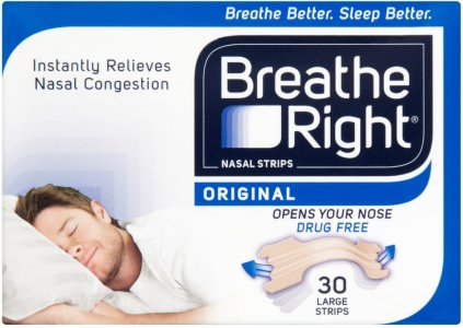 Breathe Right Nasal Strips Large Original Pack of 30 x 6