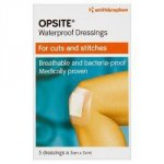 Opsite Waterproof Dressing Pads 6.5cm x 5cm Pack of 5