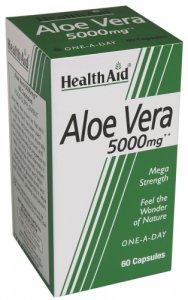 HealthAid Aloe Vera 5000mg Capsules Pack of 60