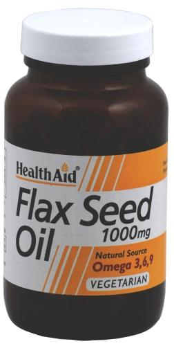 HealthAid Flax Seed Oil 1000mg Capsules Pack of 60