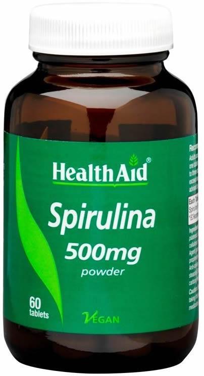 HealthAid Spirulina 500mg Tablets Pack of 60