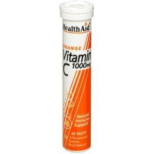 HealthAid Vitamin C 1000mg Effervescent Tabs Orange Flavour Pack of 20