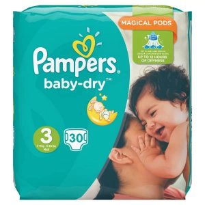 Pampers Baby Dry (unisex) Midi Pack of 30