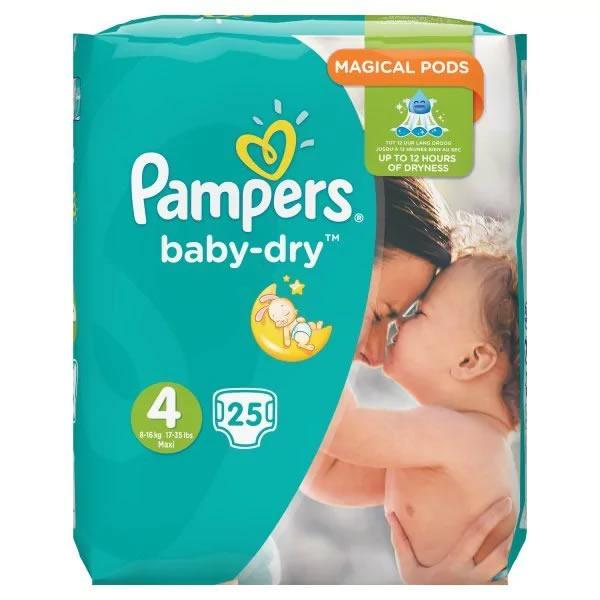 Pampers Baby Dry (unisex) Maxi Pack of 25