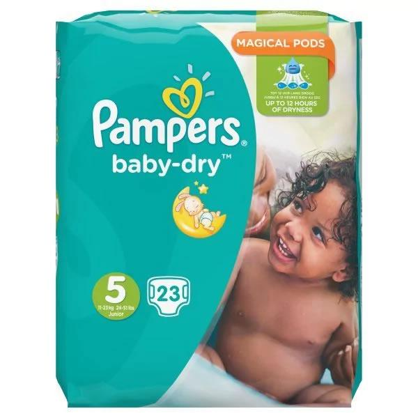 Pampers Baby Dry (unisex) Junior Pack of 23