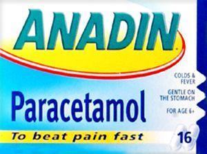 Anadin Paracetamol Tablets Pack of 16