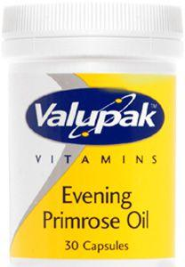 Valupak Evening Primrose Oil Capsules 500mg Pack of 30