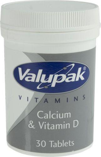 Valupak Calcium With Vitamin D Tablets 400mg Pack of 30