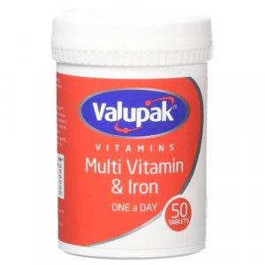 Valupak Multivitamin & Iron Tablets Pack of 50