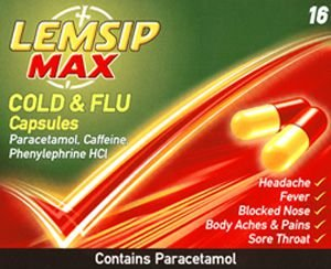 Lemsip Max Cold & Flu Capsules Pack of 16
