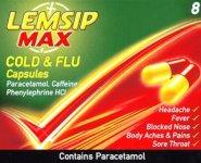 Lemsip Max Cold & Flu Capsules Pack of 8