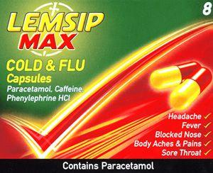 Lemsip Max Cold & Flu Capsules Pack of 8