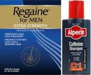 Regaine Men 60ml Lotion Triple Pk & Alpecin Caffeine Shampoo C1 250ml