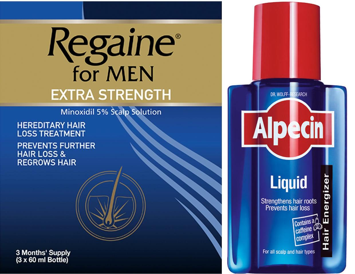 Regaine Men 60ml Lotion Triple Pack & Alpecin Liquid 200ml