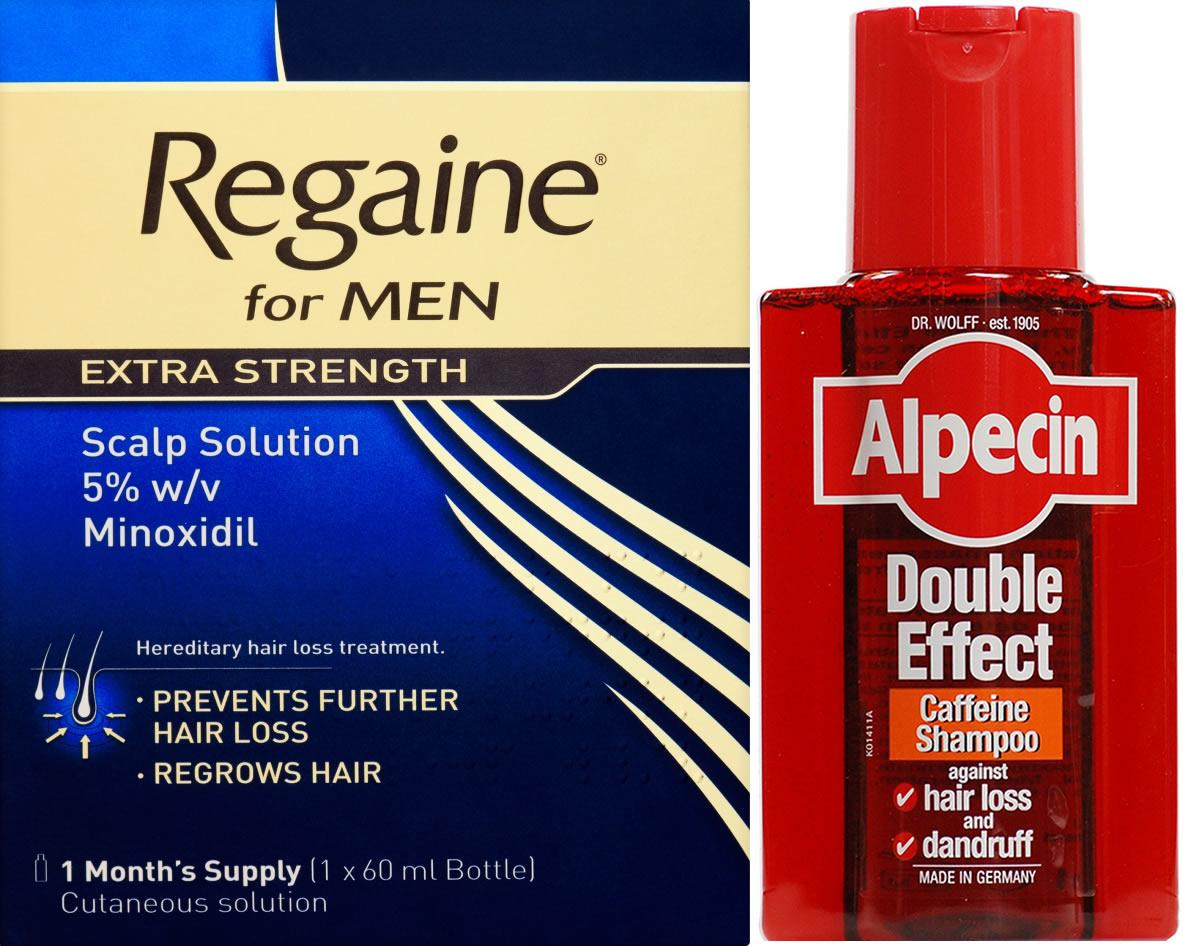 Regaine Men 60ml Lotion Triple Pk & Alpecin Shampoo Dble Effect 200ml