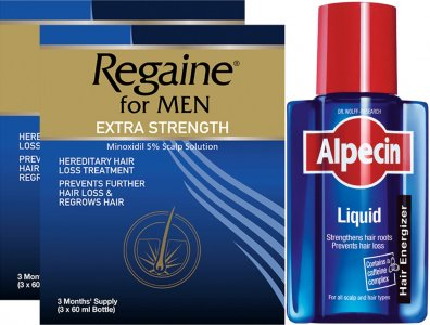 Regaine Men 60ml Lotion Triple Pack X 2 & Alpecin Liquid 200ml