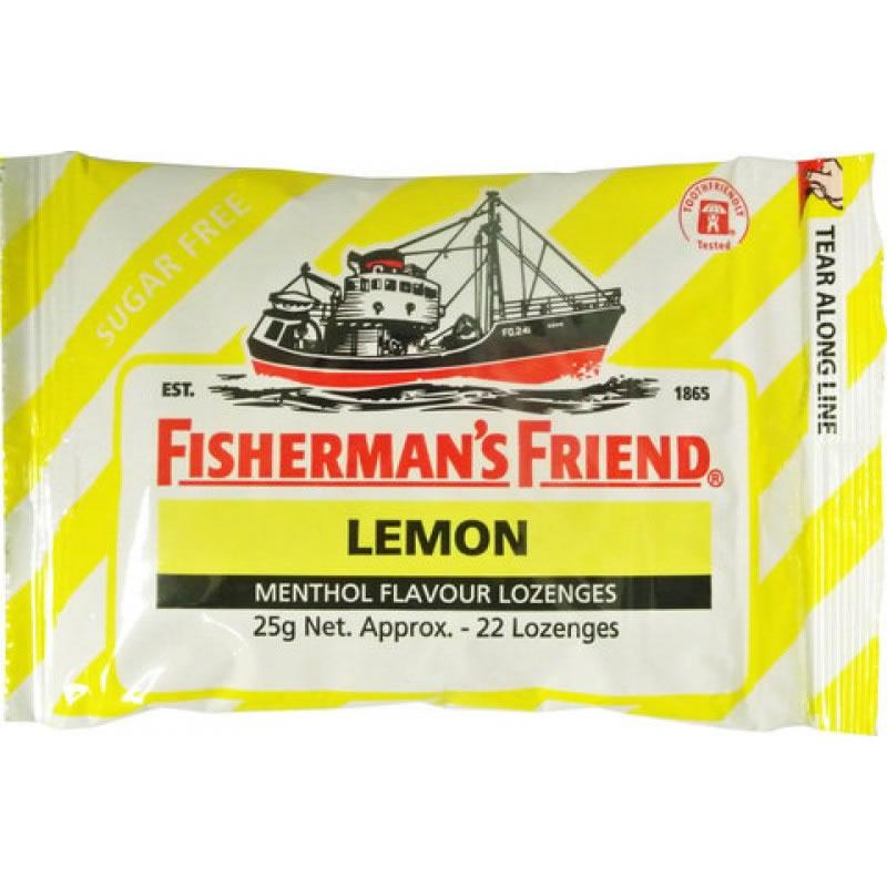 Fisherman's Friend Lemon Menthol Sugar Free Lozenges 25g