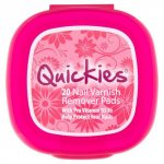 Quickies Nail Varnish Remover Pads Pack of 20