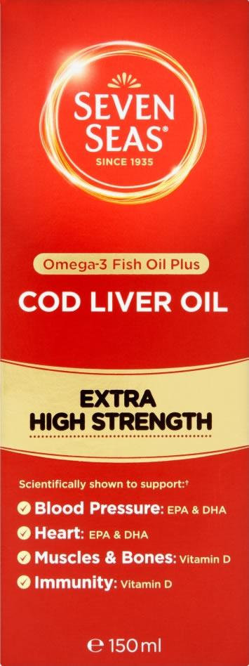 Seven Seas Cod Liver Oil Extra High Strength Liquid 150ml