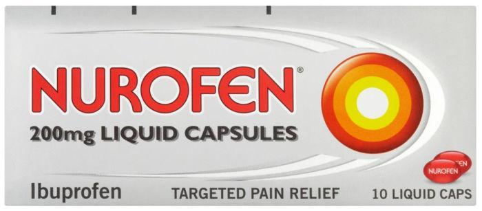 Nurofen 200mg Liquid Capsules Pack of 10