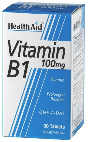HealthAid Vitamin B1 100mg Tablets Pack of 90