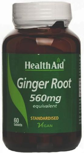 HealthAid Ginger Root 560mg Tablets Pack of 60