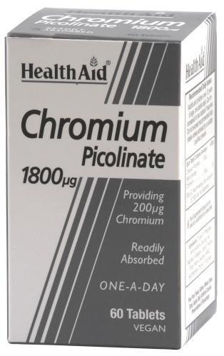 HealthAid Chromium Picolinate 1800mcg Tablets Pack of 60