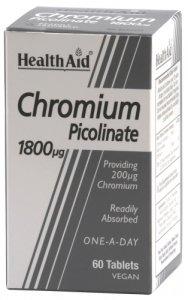 HealthAid Chromium Picolinate 1800mcg Tablets Pack of 60