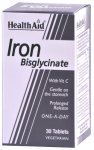 HealthAid Iron Bisglycinate Tablets Pack of 30