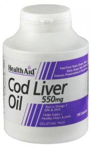 HealthAid Cod Liver Oil 550mg Capsules Pack of 180