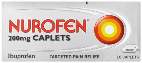 Nurofen 200mg Caplets Pack of 16