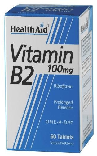 HealthAid Vitamin B2 100mg Tablets Pack of 60