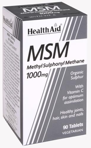 HealthAid MSM 1000mg Tablets Pack of 90