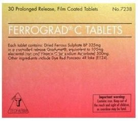 Ferrograd C Filmtabs Blister Pack of 30