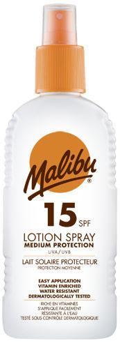 Malibu Sun Lotion Spray SPF15 200ml