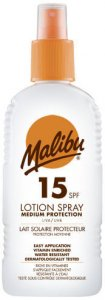 Malibu Sun Lotion Spray SPF15 200ml