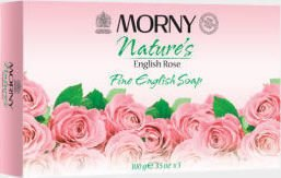 Morny Nature's English Rose Soap 100g Pack of 3