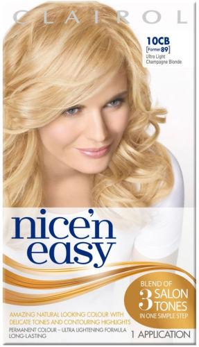Clairol Nice n Easy Ultra Light Champagne Blonde 10CB (formerly 89)