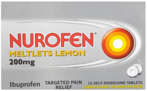 Nurofen Meltlets Compressed Tablets Pack of 12